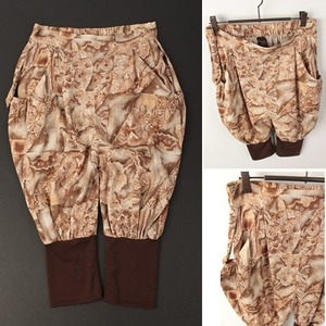 [WEGO]Beige washing baggy pants 위고 나염배기7부팬츠
