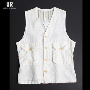 [URBAN RESEARCH DOORS] Linen Vest / 어반리서치 린넨베스트