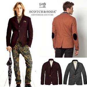 [Scotch&Soda]Japanese Styled Wool Blazer 엘보패치울자켓