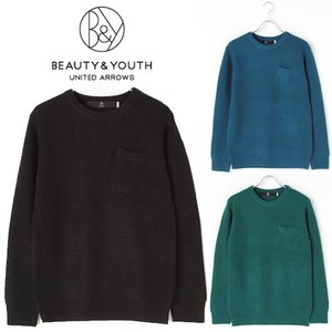 [BEAUTY&YOUTH/UNITED ARROWS]Pocket Crew Knit T 뷰티앤유쓰 포켓니트티