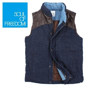 [SOUL OF FREEDOM]DENIM PADDING VEST 데님패딩조끼
