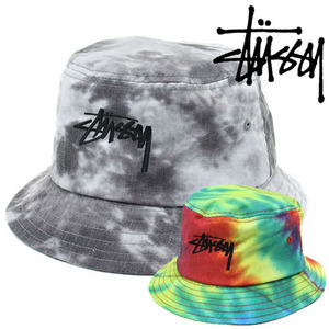 [STUSSY]Tie Dye Washed Crusher Bucket Hat 스투시 나염버킷햇