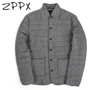 [ZPPX]GRAY DOWN SINGLE JACKET 다운자켓