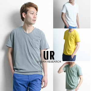 [URBAN RESEARCH]COLD COT WASHING POCKET T 얼반리서치 워싱포켓티