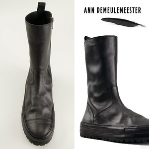 [ANN DEMEULEMEESTER] Leather Side-Zip Boot / 엔드뮐미스터