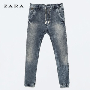 [ZARA] PANTALON DENIM MOLLETON