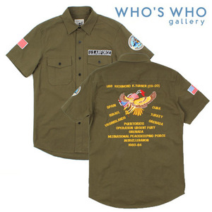 [WHO'S WHO]U.S AIRFORCE EMBO SHIRTS 후즈후 에어포스셔츠