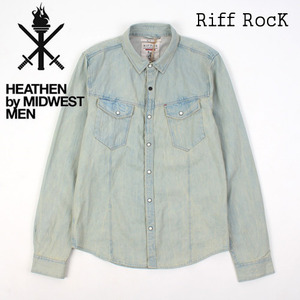 [MIDWEST] Riff Washing Denim Shirts 워싱데님셔츠