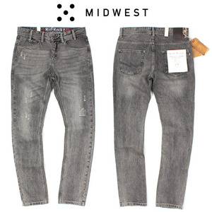 [MIDWEST] RIFF ROCK DAMAGE JEANS