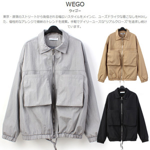 [WEGO] Shiny Big Pocket Jumper 빅포켓점퍼