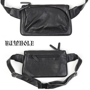 [RUMHOLE]Leather Cross Backpack 가죽 크로스백팩(고급형)