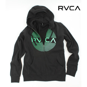 [RVCA] Contrast Zip Hoody in Black