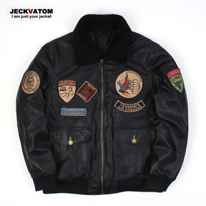 [JECKVATOM] Flight Bomber Mustang Jacket 봄버무스탕자켓