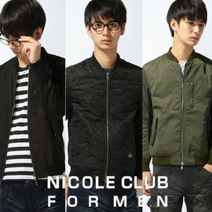 [NICOLE CLUB FOR MEN] REVERSIBLE MA-1 양면 항공점퍼