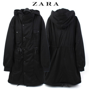 [ZARA] HOODY ZIP-UP SAFARI COAT 자라 후드사파리