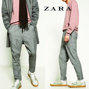 [ZARA] 2 toned Textured Pants