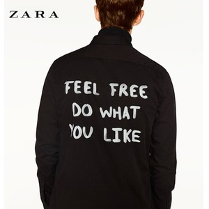 [ZARA] SHIRT WITH TEXT AT BACK