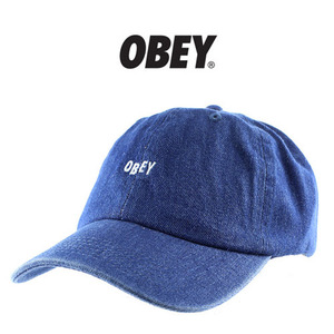 [OBEY] OBEY JUMBLE BAR DENIM 6 PANEL CAP