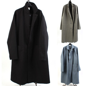 [THEJOON] Overfit Long Single Coat 오버핏롱코트