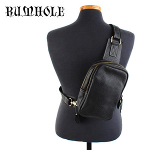 [RUMHOLE]Leather Cross Brown Backpack 가죽 크로스백팩