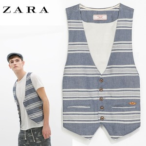 [ZARA-Denim Couture] stripe Vest /자라 베스트