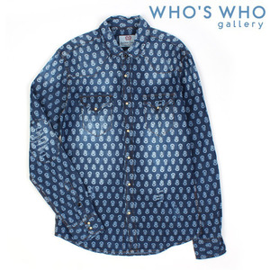 [WHO'S WHO] Washing Print Denim Shirts 후즈후 데님셔츠
