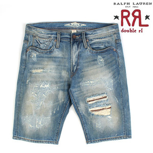 [Ralph Lauren Double RL] Union Damage Short Denim 데미지숏데님