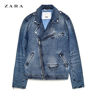 [ZARA] DENIM BIKER JACKET (Mid-BLUE) S사이즈
