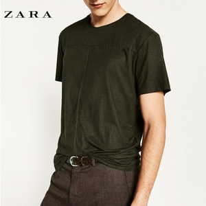 [ZARA] suede t shirt (BLACK)