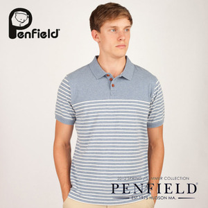 [ASOS/PENFIELD]Loomis Blue Melange Polo 팬필드 폴로셔츠
