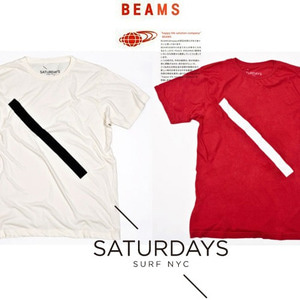 [Saturdays Surf NYC/BEAMS]Slash T-Shirt 빔스 프린트티