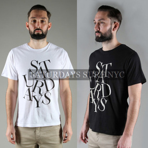 [Saturdays Surf NYC]Simple Logo Print T 세러데이서프 프린트티