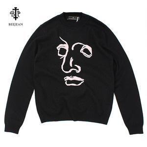 [BEEJEAN] HIGH-NECK FACE KNIT 비진 페이스니트