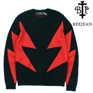 [BEEJEAN] RED THUNDER KNIT 비진 썬더니트
