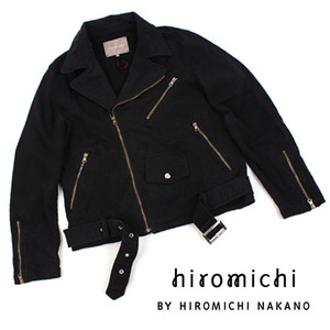 [hiromichi BY HIROMICHI NAKANO]Vintage Black Rider Jacket 히로미치 라이더자켓