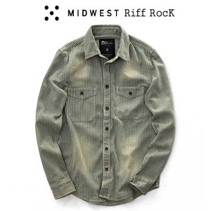 [MIDWEST] Riff Washing Stripe Shirts 스트라이프셔츠