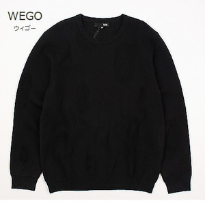 [WEGO] Elliptical BLACK KNIT 위고 블랙니트