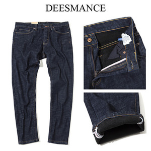 [DEESMANCE] Winter Dark Denim 데님팬츠(안감기모)