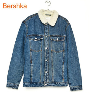 [Bershka] Denim jacket with faux shearling lining