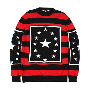 [THEJOON] STRIPE STAR KNIT 스트라이프별니트