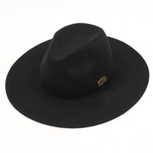 [UNIVERSAL CHEMISTRY] Black Simple Fedora GD 유니버셜케미스트리 페도라