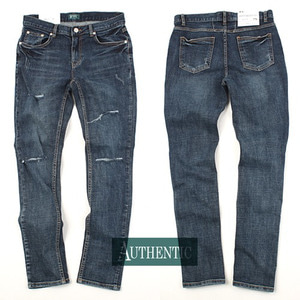 [AUTHENTIC] Knife Damage Washing Jeans 칼구제 워싱진H7