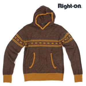 [RIGHT ON]Bling Leads Knit Hood/라이트온 니트후드