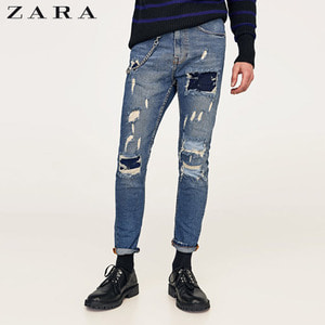[ZARA] Broken Chain Jeans(Carrot Fit)