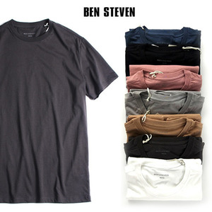 [BEN STEVEN] SIMPLE COTTON S/S TEE 벤스티븐 무지티셔츠