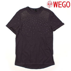 [WEGO] Stud Roll-up S/S Tee 스터드롤업티