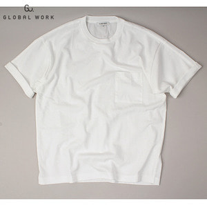 [GLOBAL WORK] TWO FABRIC Pocket T-shirts 글로벌워크