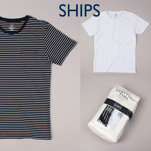 [SHIPS] PERUVIAN PIMA COTTON POCKET TEE(1+1SET)