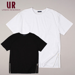 [URBAN RESEARCH] Bottom Zip S/S Tee 얼반리서치 지퍼티