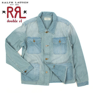 [Ralph Lauren Double RL] Stripe Wasnig Denim Jacket 워싱데님자켓